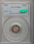 Seated Half Dimes: , 1861 H10C MS64 PCGS. CAC. PCGS Population (104/61). NGC Census:(132/94). Mintage: 3,361,000. Numismedia Wsl. Price for pro...