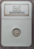 Seated Half Dimes: , 1872 H10C MS62 NGC. NGC Census: (49/194). PCGS Population (48/192).Mintage: 2,947,950. Numismedia Wsl. Price for problem f...