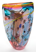 Art Glass:Other , A WES HUNTING GLASS VASE . Princeton, Wisconsin, circa 1992. Marks:W.S. Hunting. 19-1/4 inches high (48.9 cm). ...