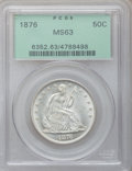 Seated Half Dollars: , 1876 50C MS63 PCGS. PCGS Population (65/71). NGC Census: (50/55).Mintage: 8,419,150. Numismedia Wsl. Price for problem fre...