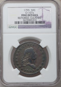 Early Half Dollars, 1795 50C 2 Leaves -- Cleaned, Repaired -- NGC Details. Fine.O-107a. NGC Census: (122/535). PCGS Population (184/677). Mint...