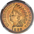 1892 1C Indian Cent PR65 Red and Brown NGC. CAC....(PCGS# 2364)