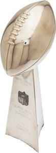 Football Collectibles:Others, 1994 Super Bowl XXVIII Player's Lombardi Trophy Presented to Kenneth Gant of the Dallas Cowboys....