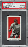 "Baseball Cards:Singles (Pre-1930), 1910 E98 ""Set of 30"" Honus Wagner (Black Swamp Find) PSA Gem MT 10- The Finest Example Known! ..."
