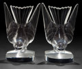 Art Glass:Lalique, A PAIR OF LALIQUE GLASS HIRONDELLE PATTERN BOOKENDS .Wingen-sur-Moder, France, post 1945. Marks: Lalique, Fra...(Total: 2 Items)