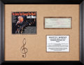 Music Memorabilia:Autographs and Signed Items, Elvis Presley Related - Scotty Moore Signed Check Matted and Framed(1959)....