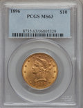 Liberty Eagles: , 1896 $10 MS63 PCGS. PCGS Population (132/9). NGC Census: (210/19).Mintage: 76,200. Numismedia Wsl. Price for problem free ...
