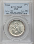 Commemorative Silver: , 1938 50C Texas MS65 PCGS. PCGS Population (387/226). NGC Census:(318/269). Mintage: 3,780. Numismedia Wsl. Price for probl...