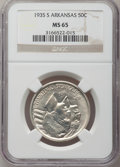 Commemorative Silver: , 1935-S 50C Arkansas MS65 NGC. NGC Census: (337/114). PCGSPopulation (410/180). Mintage: 5,506. Numismedia Wsl. Price forp...