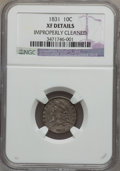 Bust Dimes, 1831 10C --Improperly Cleaned--NGC Details. XF. NGC Census:(11/259). PCGS Population (13/260). Mintage: 771,350. Numism...