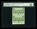 Fractional Currency:First Issue, Fr. 1310a Milton 1R50.3d 50¢ First Issue Perf. 14 Vertical Pair PMGAbout Uncirculated 55....