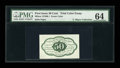 Fractional Currency:First Issue, Milton 1E50R.1 50¢ First Issue Trial-Color Essay PMG ChoiceUncirculated 64....