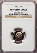 Proof Roosevelt Dimes: , 1983-S 10C PR69 Ultra Cameo NGC. NGC Census: (538/162). PCGSPopulation (2927/164). Numismedia Wsl. Price for problem free...