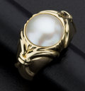 Estate Jewelry:Rings, Fine Mabe Pearl Gold Ring. ...