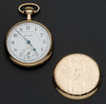 Timepieces:Pocket (post 1900), Burlington 21 Jewel 16 Size Pocket Watch. ...