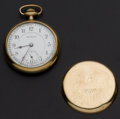 Timepieces:Pendant , Burlington 21 Jewel 16 Size Pocket Watch. ...