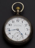 Timepieces:Pocket (post 1900), Hamilton Private Label 23 Jewels Coin Silver Pocket Watch. ...