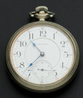 Timepieces:Pocket (post 1900), Waltham Crescent Street 21 Jewel Model 92 Pocket Watch. ...