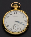 Timepieces:Pocket (post 1900), C.H. Meylan High Grade 18k Gold 21 Jewel Pocket Watch. ...