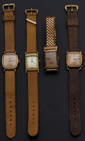 Timepieces:Wristwatch, A Lot Of Four Vintage Manual Wristwatches. ... (Total: 4 Items)