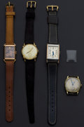 Timepieces:Wristwatch, A Lot Of Four Vintage Manual Wind Wristwatches. ... (Total: 4 Items)