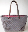 Luxury Accessories:Bags, Heritage Vintage: Chanel Cambon Light Blue Tweed Large Tote. ...