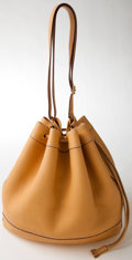 Luxury Accessories:Bags, Heritage Vintage: Hermes Tan Leather Market Drawstring Bag. ...