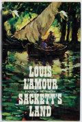 Books:Fiction, Louis L'Amour. INSCRIBED. Sackett's Land. Dutton, 1974.First edition, first printing. Signed and inscribed by...