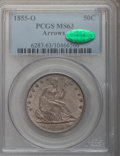 Seated Half Dollars, 1855-O 50C Arrows MS63 PCGS. CAC....