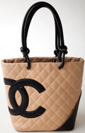 Luxury Accessories:Bags, Heritage Vintage: Chanel Beige Quilted Ligne Cambon Small Tote. ...