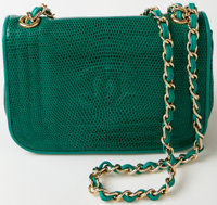 Heritage Vintage: Chanel Green Lizard Flap Bag with Gold Hardware