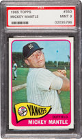 Baseball Cards:Singles (1960-1969), 1965 Topps Mickey Mantle #350 PSA Mint 9 - None Higher! ...