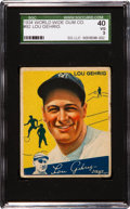 Baseball Cards:Singles (1930-1939), 1934 World Wide Gum Lou Gehrig #92 SGC 40 VG 3....