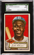 Baseball Cards:Singles (1950-1959), 1952 Topps Jackie Robinson #312 SGC 50 VG/EX 4....