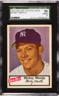 Baseball Cards:Singles (1950-1959), 1954 Dan-Dee Potato Chips Mickey Mantle SGC 50 VG/EX 4....