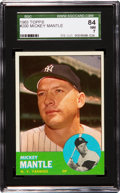 Baseball Cards:Singles (1960-1969), 1963 Topps Mickey Mantle #200 SGC 84 NM 7....