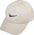 Golf Collectibles:Bags/Flagsticks/Clothing, 2000's Tiger Woods Match Worn Cap Upper Deck LOA. ...