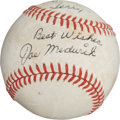 Autographs:Baseballs, 1968 Joe Medwick Single Signed Baseball....