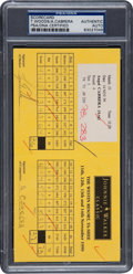 Golf Collectibles:Autographs, 1999 Tiger Woods Signed Tournament Scorecard....