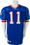 Football Collectibles:Uniforms, 1992 Phil Simms Game Worn, Signed New York Giants Jersey....