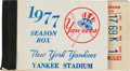 Baseball Collectibles:Tickets, 1977 New York Yankees Season Ticket Booklet....