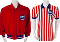 Basketball Collectibles:Uniforms, ABA Referee's Game Worn Shirt and Jacket. ...