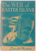 Books:Horror & Supernatural, Donald Wandrei. SIGNED. The Web of Easter Island. Arkham House, 1948. First edition, first printing. Signed by...