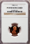 Proof Lincoln Cents, 1983-S 1C PR69 Red Ultra Cameo NGC. NGC Census: (391/0). PCGSPopulation (1604/32). Numismedia Wsl. Price for problem free...