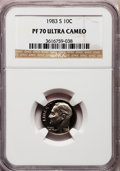 Proof Roosevelt Dimes: , 1983-S 10C PR70 Ultra Cameo NGC. NGC Census: (162). PCGS Population(168). Numismedia Wsl. Price for problem free NGC/PCGS...