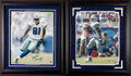 Football Collectibles:Photos, Terrell Owens and Marion Barber Signed Oversized Photographs Lot of 2....
