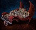 Latin American:Contemporary, ASBEL DUMPIERRE (Cuban, b. 1971). Triciclo (Tricycle).Acrylic on canvas. 39-1/4 x 47-1/4 inches (99.7 x 120.0 cm).Sign...