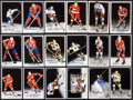 Hockey Cards:Lots, Hockey Legends Signed Oversized Cards Lot of 18....