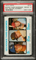 Baseball Cards:Singles (1970-Now), 1973 Topps Mike Schmidt/Ron Cey Rookie #615 PSA NM-MT 8. ...