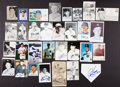 Baseball Collectibles:Others, New York Yankees Signed Photographs, Cards, Etc. Lot of 31....